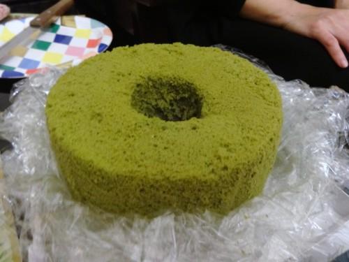 仁美さん手作り抹茶シフォン20151225②原型